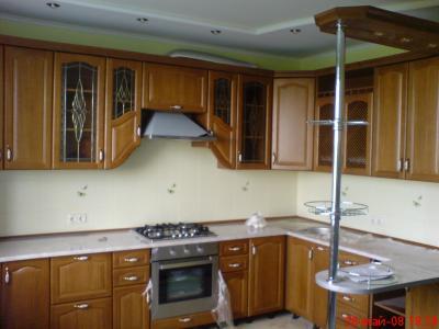 Кухни с дубовым фасадом