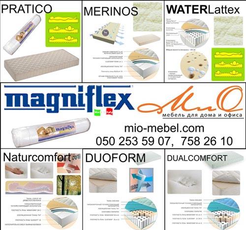Безпружинные ортопедические матрасы в вакуумной упаковке Magniflex (Магнифлекс) на mio-mebel.com